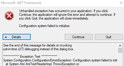 Cách sửa lỗi Unhandled Exception Has Occurred trên Windows 10