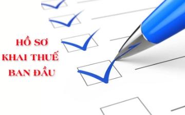 Thủ tục hồ sơ kê khai thuế ban đầu cho Công ty mới thành lập