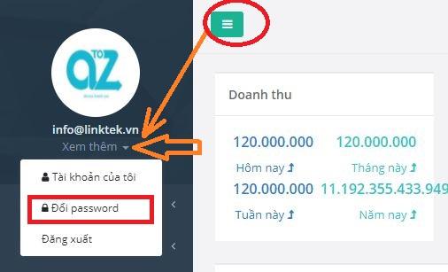 Thay đổi mật khẩu đăng nhập eHoaDon Online