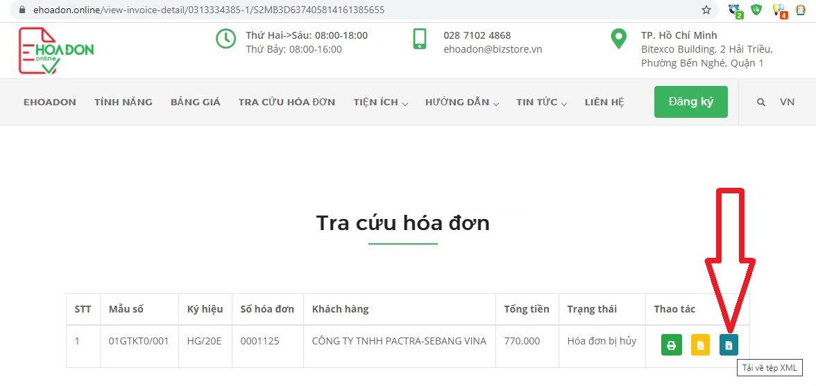 Tải file XML của hóa đơn điện tử- hướng dẫn dành cho bên mua hàng