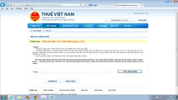 Báo lỗi phiên bản trên tờ khai XML không đúng: 2.0.0