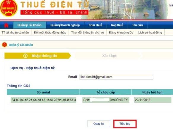 Cập nhật chữ ký số sau khi gia hạn trên thuedientu.gdt.gov.vn