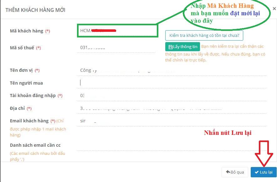 Mẹo cập nhật Mã Khách Hàng trên hệ thống eHoaDon Online