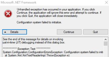 Cách sửa lỗi Unhandled Exception Has Occurred trên Windows 10