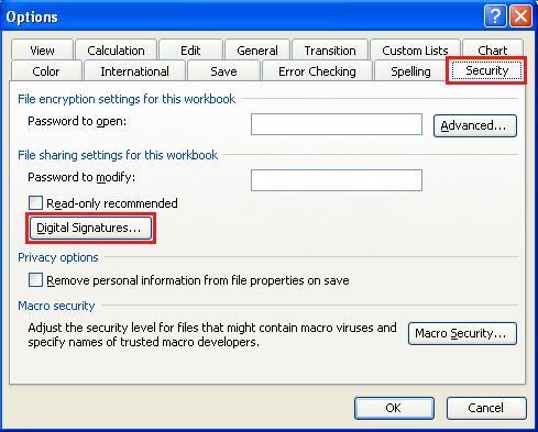 KÝ FILE MICROSOFT WORD và EXCEL (Phiên bản Microsoft Office trước 2010)