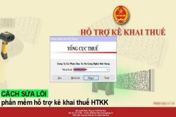 Xử lý lỗi không đăng nhập được vào phần mềm HTKK