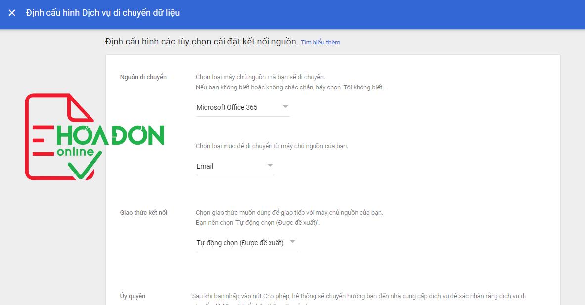 Hướng dẫn chuyển dữ liệu từ Microsoft 365 về Google workspace