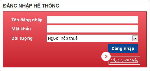 Hướng dẫn lấy lại mật khẩu trên hệ thống Dịch vụ Thuế điện tử - thuedientu.gdt.gov.vn