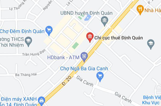 Chi Cục Thuế Khu Vực Định Quán - Tân Phú